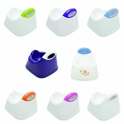 The Neat Nursery Co. Toilet Training Potty With Shaped Seat - White / Blue