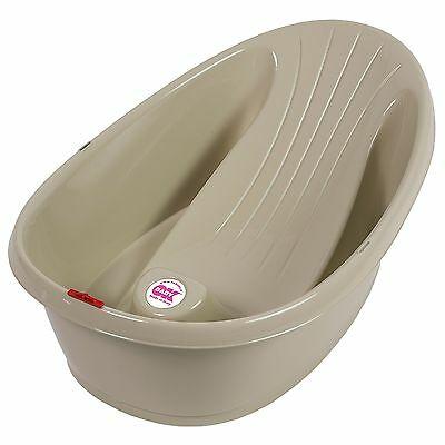 OK Baby Onda Anti-Slip Baby Shower Bath With Thermometer - Taupe