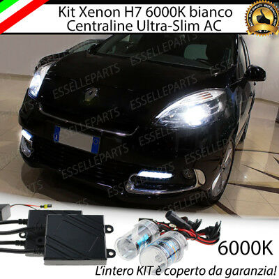 KIT XENON XENO H7 6000k 35W AC SPECIFICO PER RENAULT SCENIC XMOD NO ERROR