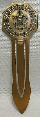 Vintage Boy Scouts Of America New York City Book Mark National Concil Brass