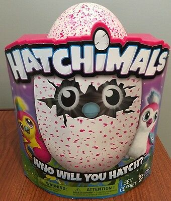 HATCHIMALS Pengualas Pink Egg, One of Two Magical Creatures Inside, NEW!!