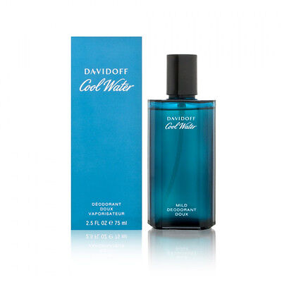 Cool Water By Davidoff Mild Deodorant Spray (Men) 2.5 Oz *New In Box*