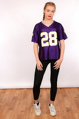 Ladies Vintage Minnesota Vikings american football jersey NFL 28 Peterson XL