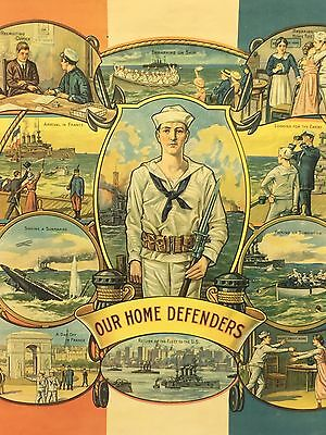 "Original 1918 ""Our Home Defenders"" Poster"