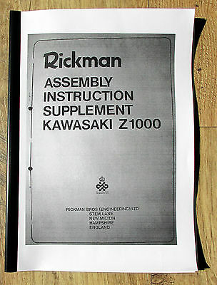 Rickman Honda Kawasaki Cr Workshop Manual & Fully Illustrated Parts Catalogue