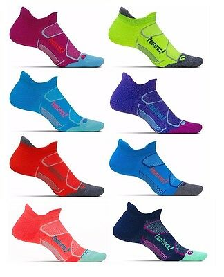 Feetures! Running Socks Elite Max Cushion No Show Tab Medium Large Unisex