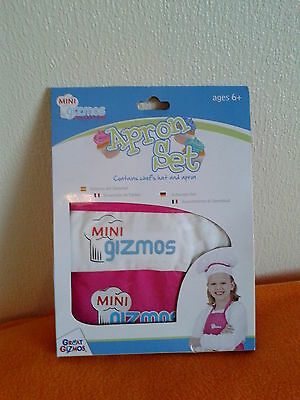Girl's Apron & Chef's Hat Set by Mini Gizmos (Age 6+)