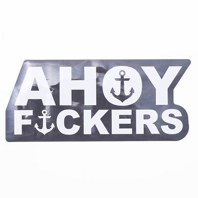 The Mad Hueys Ahoy Large Sticker in Blue