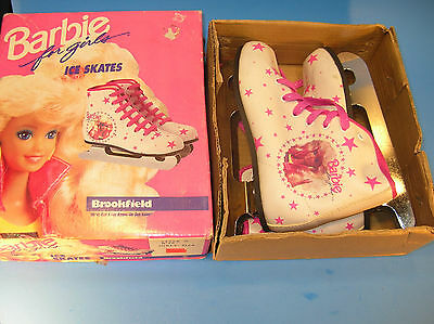 1988 Barbie Ice Skates for Girls (Size 7) Double Runners