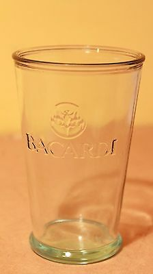 Bacardi Glass Green Embossed Rum Collectible Tumbler 250ml
