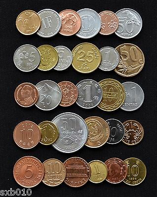 World Foreign Coins Collection Lots. 30 countries and regions. free shipping !!