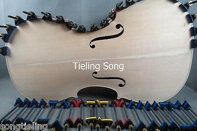 Cello making tools, 42 pcs Cello Clamps Repair Gluing Tools fix top and back