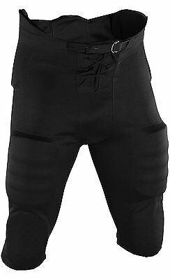 Youth Football Pants Sewn In Pads Adams USA ( Black, XX-Large )