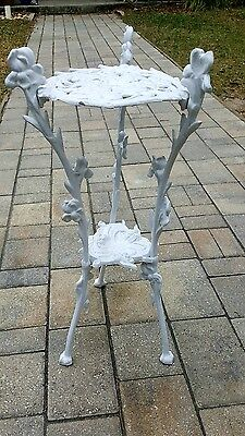 CAST Metal Antique PLANT STAND Animal Feet FLORAL French VICTORIAN