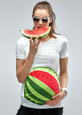 NEW - Mamagama - My Watermelon Bump T-Shirt - Maternity Tee