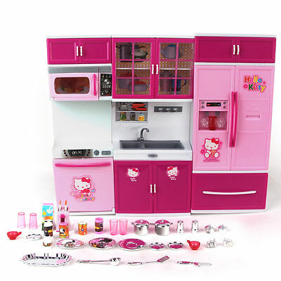 Childrens Kids Kitchen Cooking Role Play Pretend Toy Cooker Game Set Xmas Gift