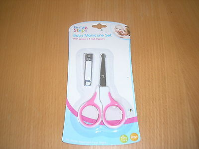 Baby Pink  Manicure Set With Scissors And Clippers