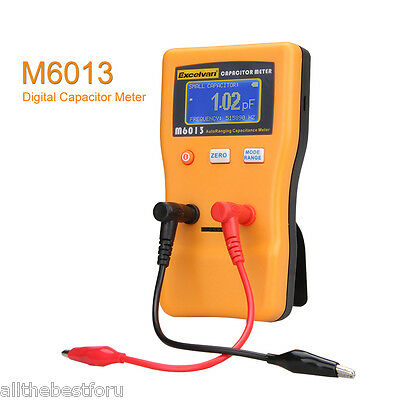 M6013 Digital Auto Range Capacitance Meter Tester LCD Backlight 0.01pF to 470mF