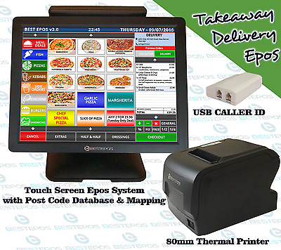 """Pizza Shop Post Code Order System :: BEST EPOS M2 15"""" Touch Screen"""