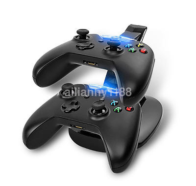 Dual USB Charger Docking Station Charging Stand For Xbox One Game Controller AU