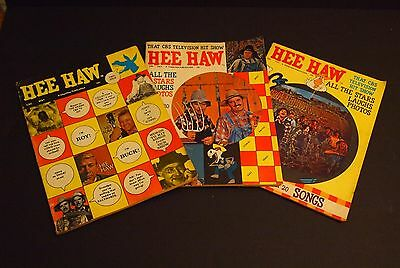 (3) Vtg 1970 HEE HAW Magazines Vol 1, #1,2&4 TV Show/Country Music, First Issue+