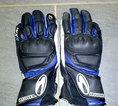 RICHA LEATHER SPORTS SUMMER MOTORCYCLE GLOVES Size M