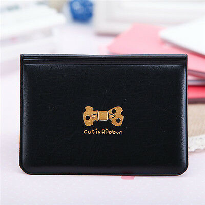 1X Cool Women Bowknot Business ID Credit Cute Card Pocket Bag Wallet Holder Case
