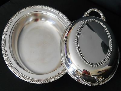 Large Oval Footed Dish Silverplate Serving Casserole Vegetable Compote