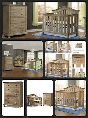 Westwood Design Meadowdale Convertible Crib & 5 Drawer Chest Set, Vintage, New