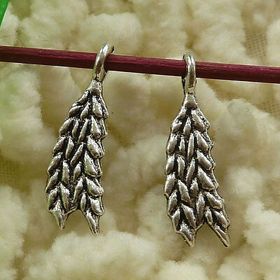 free ship 200 pieces tibetan silver ear of wheat charms 19x6mm #2861