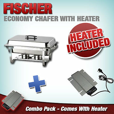 """""""new"""" 9L S/ Steel Bain Marie Stackable Chafer Food Warmer + Electric Heater"""