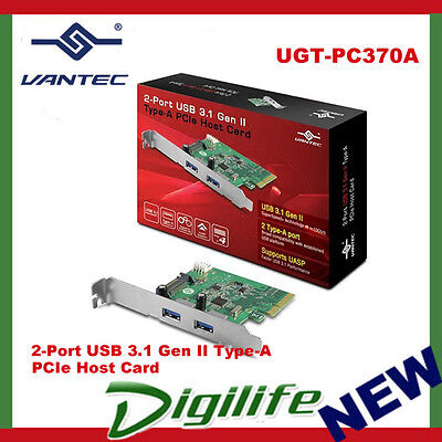 Vantec 2 Ports USB 3.1 Gen II Type-A PCIe Host Card UGT-PC370A