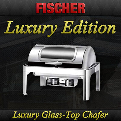 """""""new"""" Luxury 9L Stainless Steel Bain Marie Roll-Top Chafer Food Chafing Warmer"""
