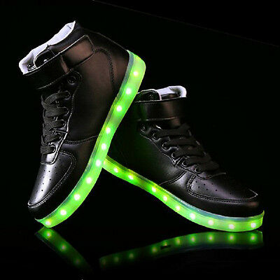 Donna Uomini Glowing LED Scarpe Luci Sportive Con Luminosi Casual Sneakers