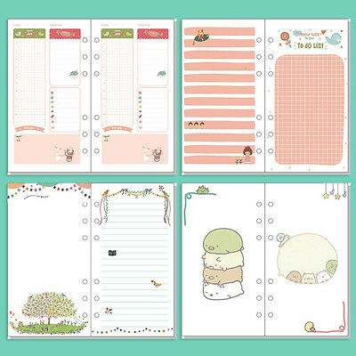 A5/A6 Colourful Ruled/Blank/Week Planner Diary Insert Refill Schedule Organiser