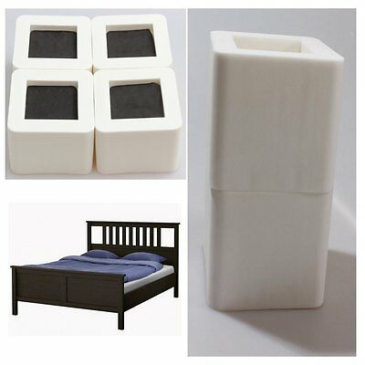 4 Pcs / Set Homewares Bed Lifters Bed Risers Lift Table Furniture Lifts Storage