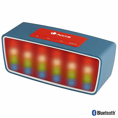 NGS Bluetooth Speaker 3W Roller Glow Blue