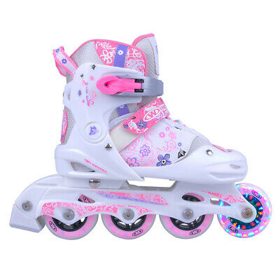 Kinder Inlineskates Worker Diane LED Leuchtrolle - Gr. 27-30, 31-34 verstellbar