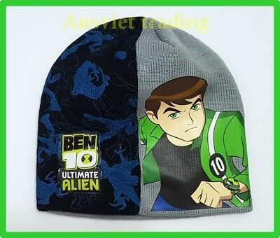BNWT Ben Ten hat Ben 10 boys kids cartoon Beanie dual layers new