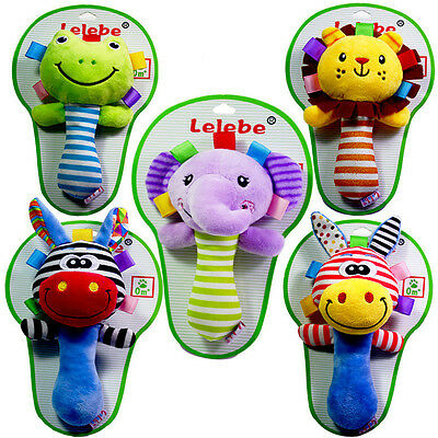Baby Puzzle Bell Toys 0-1 Year Old Baby Hand Plush Rods Hand Shake Bell