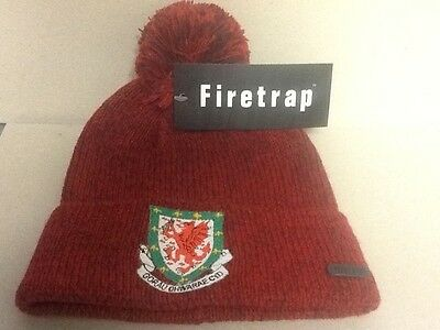 Wales bobble hat - Top quality - Made by Firetrap