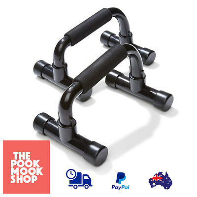 Push Up Bars Black Fitness Pushup Pair Exercise Workout Gym Tool Home Portable