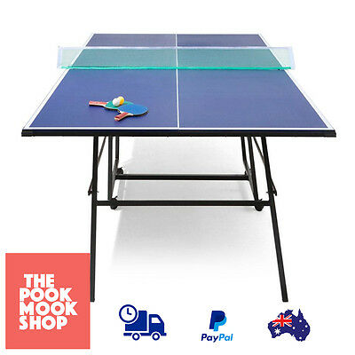Table Tennis BLUE Ping Pong Home Game Sports Rollaway Folding Family Activity
