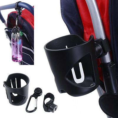 Stroller Cup Holder Buggy Pram Pushchair Hold Drinking Bottle With Clip Durable