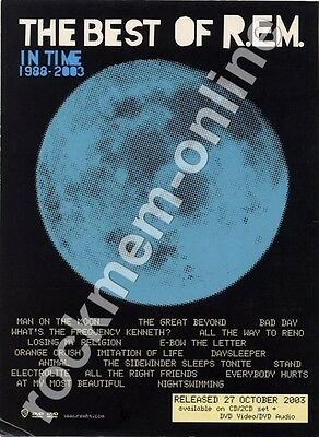 R.E.M. The Best Of In Time 1988-2003 LP Advert