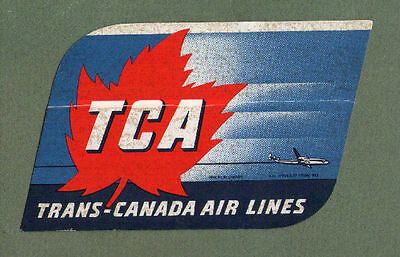 Airline luggage label Air Canada  TCA #278