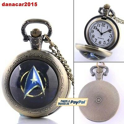 Reloj De Bolsillo Colgante De Star Trek Mas Alla(James Kirk Spock Enterprise)