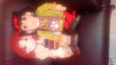 "30"" rare rosie & jim dolls with bag & book"