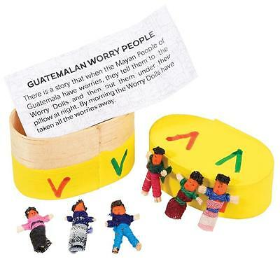 dotcomgiftshop SET 6 WORRY DOLLS IN BOX