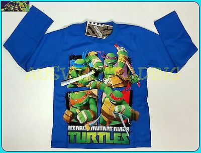 Brand new TMNT Ninja Turtles t-shirt BNWT  Tshirt cotton boys top long sleeves